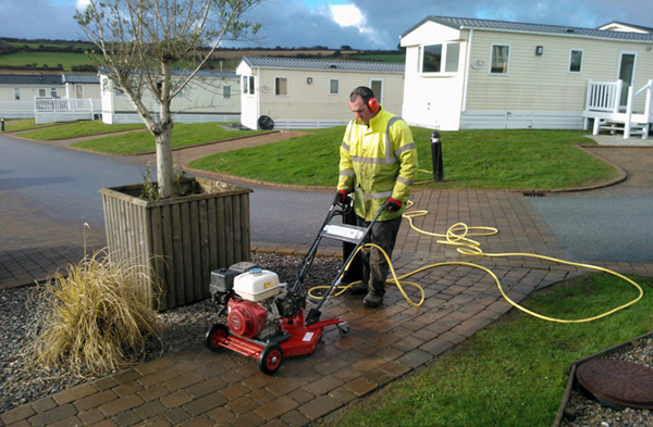 Holiday Park Path Cleaning Pressure Washing
