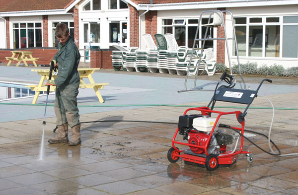 Holiday Park Swimming Pool Cleaning Pressure Washing